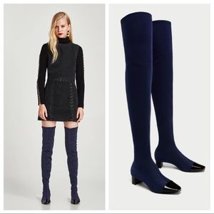 ZARA Over the Knee Heeled Boots